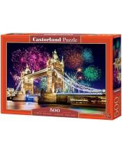 Пъзел Castorland от 500 части - Тауър Бридж, Лондон -1