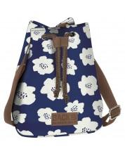 Чанта - раница 2 в 1 BackUP А27 - Blue Flowers -1