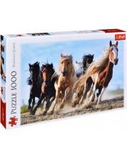 Пъзел Trefl от 1000 части - Галопиращи коне