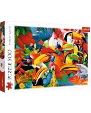 Пъзел Trefl от 500 части - Пъстроцветни птици, Греъм Стивънсън