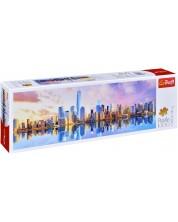 Панорамен пъзел Trefl от 1000 части - Манхатън -1