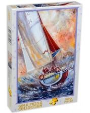Пъзел Gold Puzzle от 500 части - Трима моряци на лодка -1