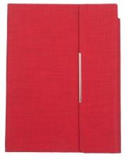 Кожен тефтер с магнитен капак Trend А5 - Червен