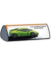 Триъгълен ученически несесер Ars Una Lamborghini - Huracan, зелен -1