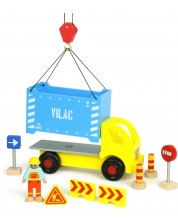 Дървена играчка Vilac - Камионче с аксесоари