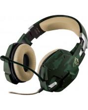 Гейминг слушалки Trust GXT 322C Carus - green camouflage