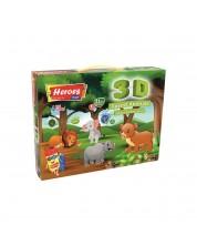 Творчески комплект Heroes - Животните в гората, натурален моделин -1