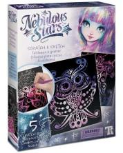 Творчески комплект Nebulous Stars - Скреч карти и шаблони, Изадора