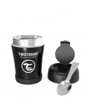 Контейнер за храна Twistshake Insulated Pastel - Черен, 350 ml