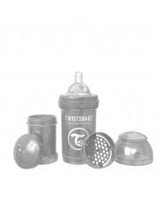 Бебешко шише против колики Twistshake Anti-Colic Pearl - Сиво, 180 ml -1