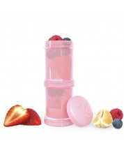 Контейнер за съхранение на храна Twistshake Pastel - Розов, 2 x 100 ml