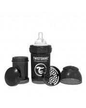 Бебешко шише против колики Twistshake Anti-Colic Pastel - Черно, 330 ml -1