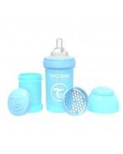 Бебешко шише против колики Twistshake Anti-Colic Pastel - Синьо, 180 ml