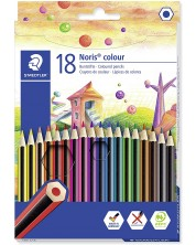 Цветни моливи Staedtler Noris Colour 185 - 18 цвята -1