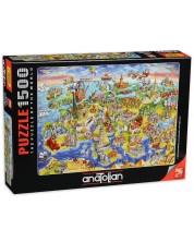 Пъзел Anatolian от 1500 части - Карта на Европа -1