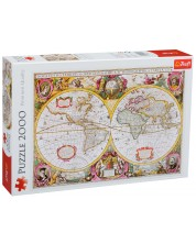 Пъзел Trefl от 2000 части - Карта на Земята