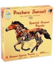 Пъзел SunsOut от 800 части - Паша по залез, Синти Фишър -1