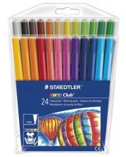 Цветни флумастери Staedtler Noris Club 325 - 24 цвята -1