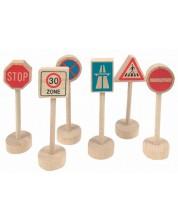 Дървени аксесоари Woody – Пътни знаци