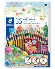 Цветни триъгълни моливи Staedtler Noris Colour 187 - 36 цвята -1