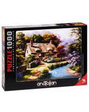 Пъзел Anatolian от 1000 части - Селска къща с патенца, Сунг Ким -1