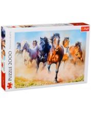 Пъзел Trefl от 2000 части - Стадо коне
