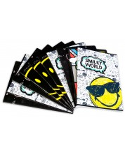 Комплект от 10 тетрадки Smiley - А4, 54 листа, широки редове -1