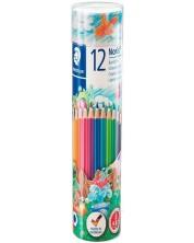 Цветни моливи Staedtler Noris Club 144 - 12 цвята, в тубус -1