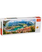 Панорамен пъзел Trefl от 500 части - Котор, Черна гора -1