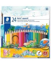 Акварелни моливи Staedtler Noris Aquarell 144 - 24 цвята, с четка -1