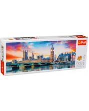 Панорамен пъзел Trefl от 500 части - Биг Бен, Лондон -1