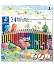 Цветни триъгълни моливи Staedtler Noris Colour 187 - 24 цвята -1