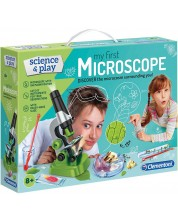 Комплект Clementoni Science & Play - Моят първи Микроскоп, с аксесоари -1
