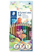 Цветни триъгълни моливи Staedtler Noris Colour 187 - 12 цвята -1