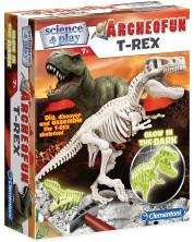 Комплект Clementoni Science & Play - Светещ скелет на Т-Рекс -1