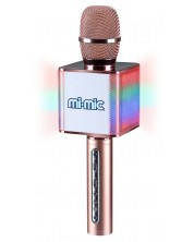 Детски микрофон Mi-Mic - С ефекти, розов -1