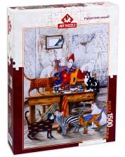 Пъзел Art Puzzle от 1500 части - Моят пъстър свят, Марек Брзозовски -1