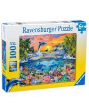 Пъзел Ravensburger от 100 XXL части - Тропически рай -1
