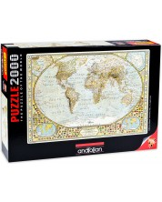 Пъзел Anatolian от 2000 части – Карта на света, Джей Саймънс -1