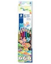 Цветни триъгълни моливи Staedtler Noris Colour 187 - 6 цвята -1