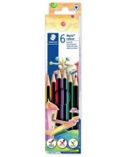 Цветни моливи Staedtler Noris Colour 185 - 6 цвята -1