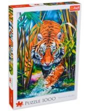 Пъзел Trefl от 1000 части - Хищен тигър