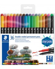 Перманентни маркери Staedtler Staedtler Desaign Journey - 36 цвята, двувърхи -1