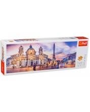 Панорамен пъзел Trefl от 500 части - Площад Навона, Рим