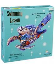 Пъзел SunsOut от 1000 части - Урок по плуване, Стив Съндрам -1