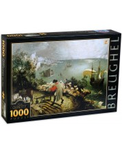 Пъзел D-Toys от 1000 части - Пейзаж с падането на Икар, Питер Брьогел Стари -1