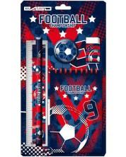 Ученически комплект Paso Football - 5 части, синьо-червен -1