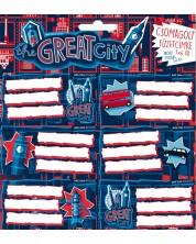 Ученически етикети Ars Una The Great City - 18 броя