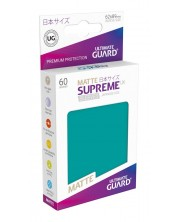 Ultimate Guard Supreme UX Sleeves Yu-Gi-Oh! Matte Petrol Blue (60) -1