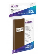 Протектори Ultimate Guard Supreme UX Sleeves Standard Size - Кафяв мат (50 бр.)
